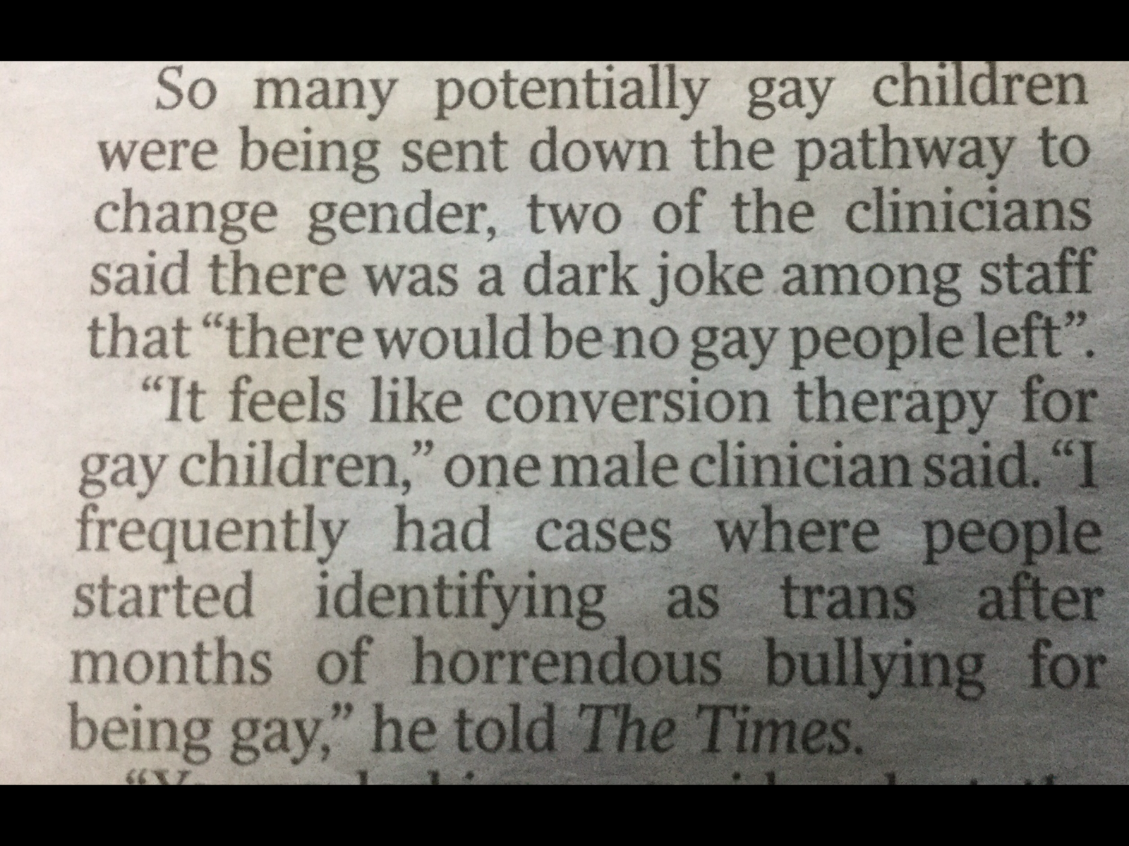 gay children and GIDS times article